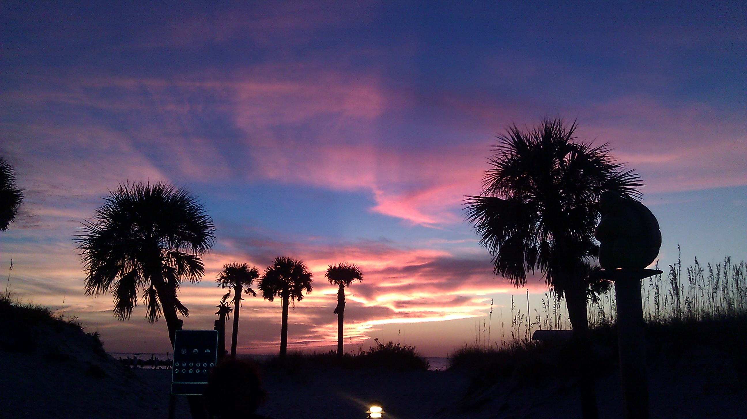 Sunset in Clearwater Beach Florida