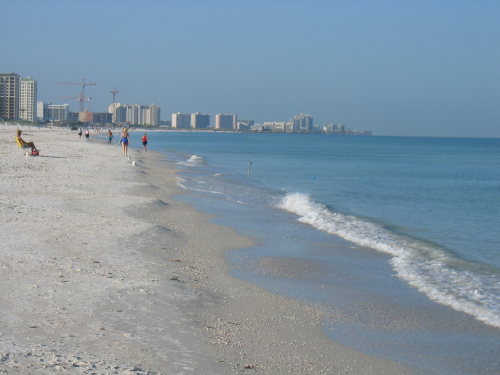 Looking south toward clearwater beach