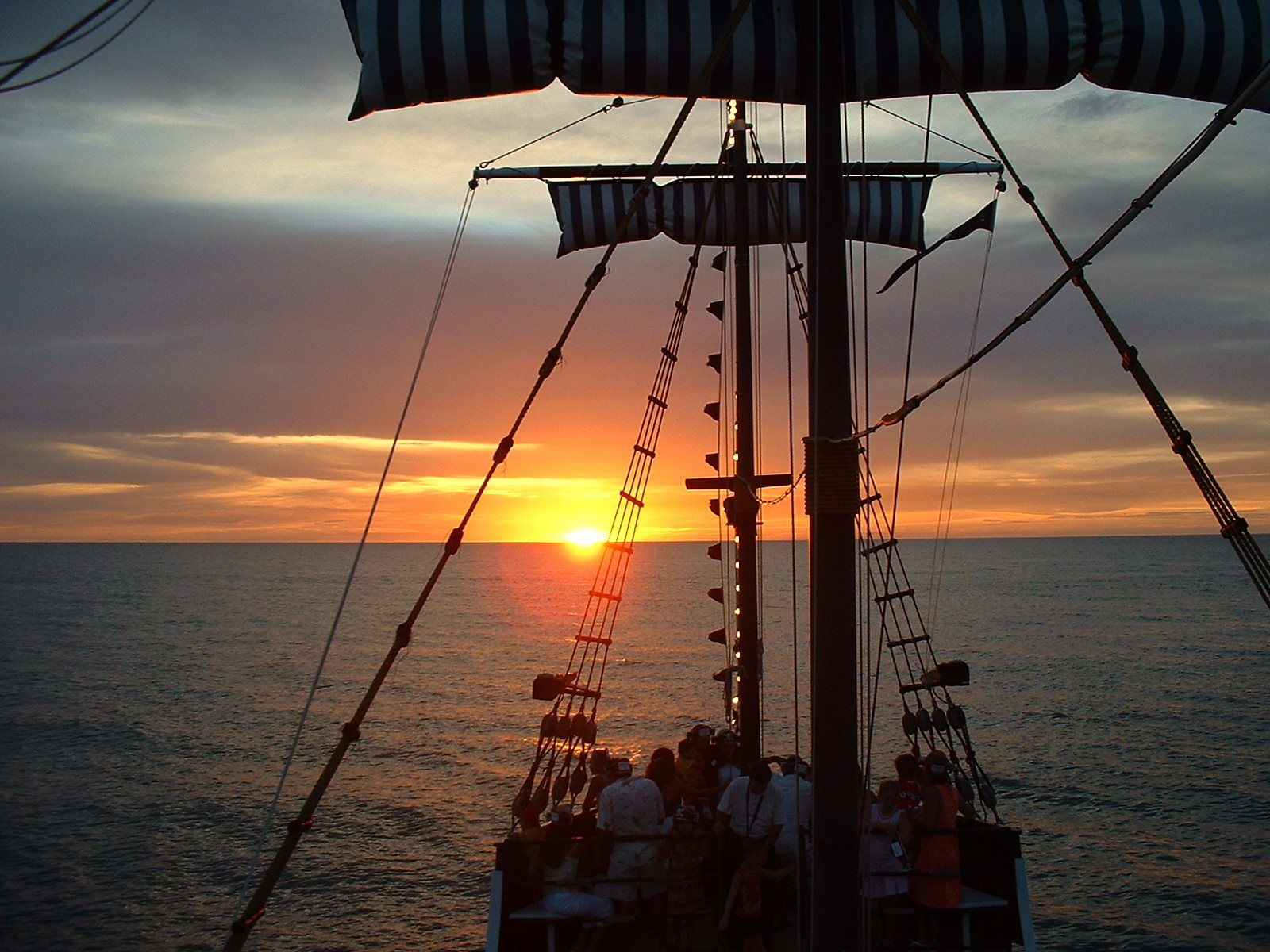 Sunset on Pirate Ship