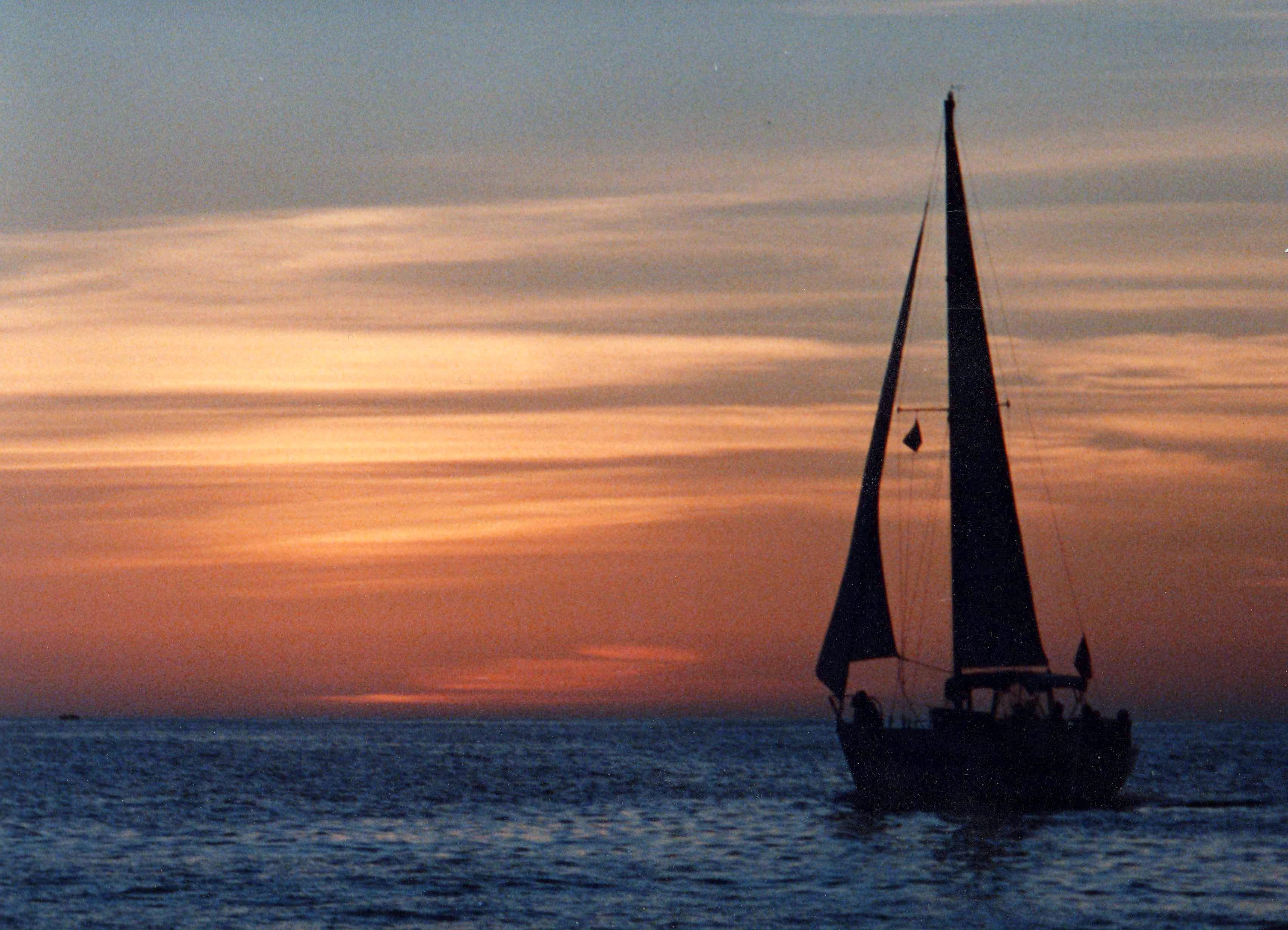 Sunset sail off Clearwater Beach