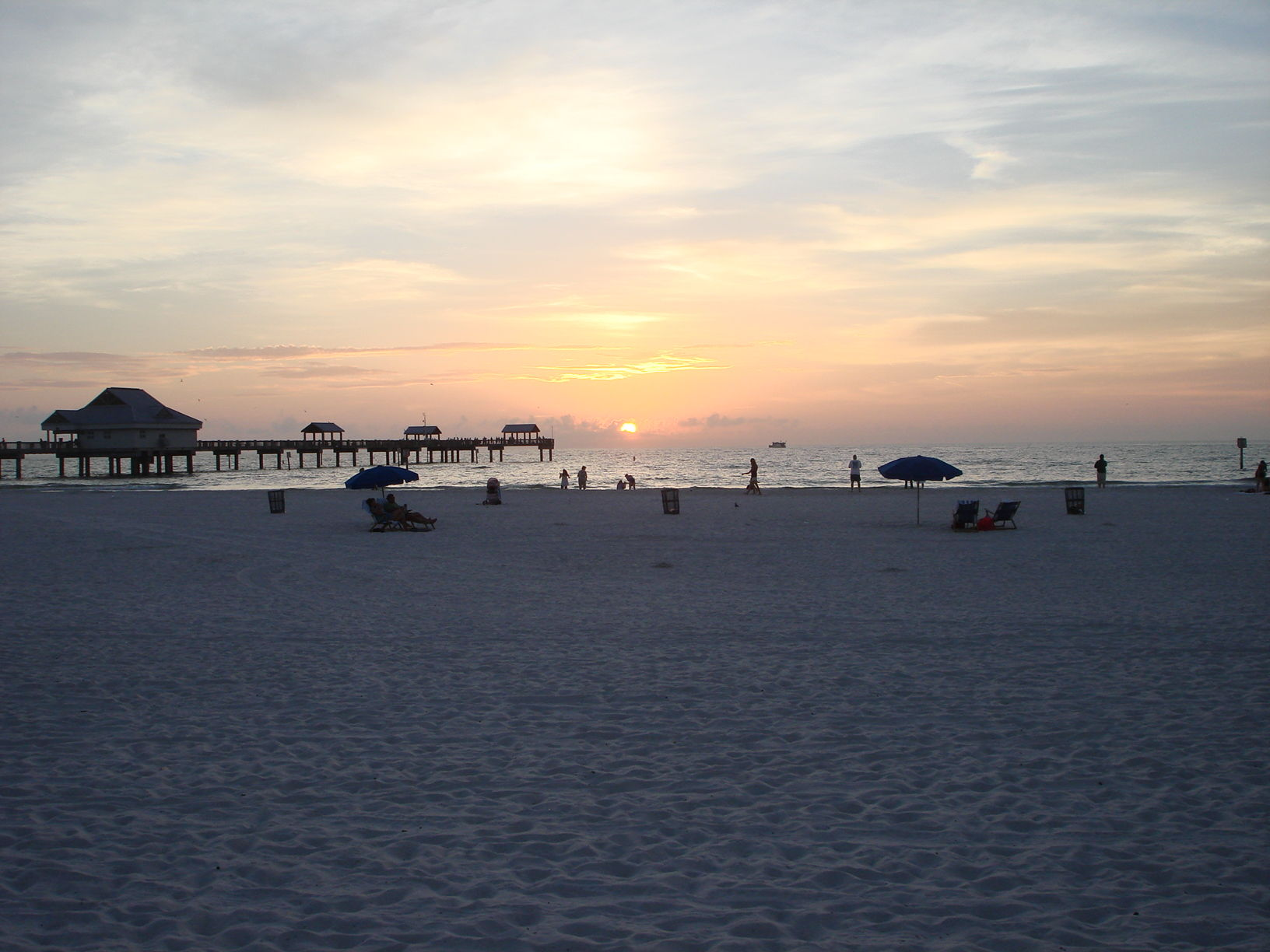 Sunseting in the Gulf of Mexico. Shot from Clearwater Beach.