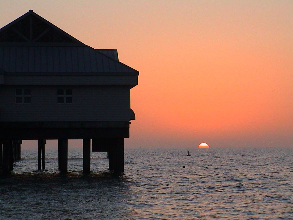 Sunset at Pier 60, Clearwater Beach Florida.