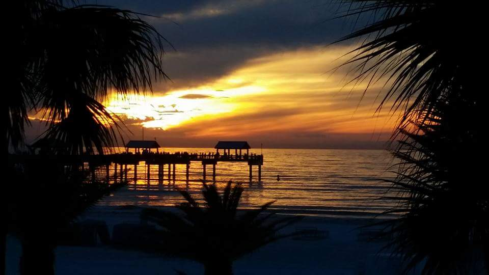 Sunset Clearwater beach