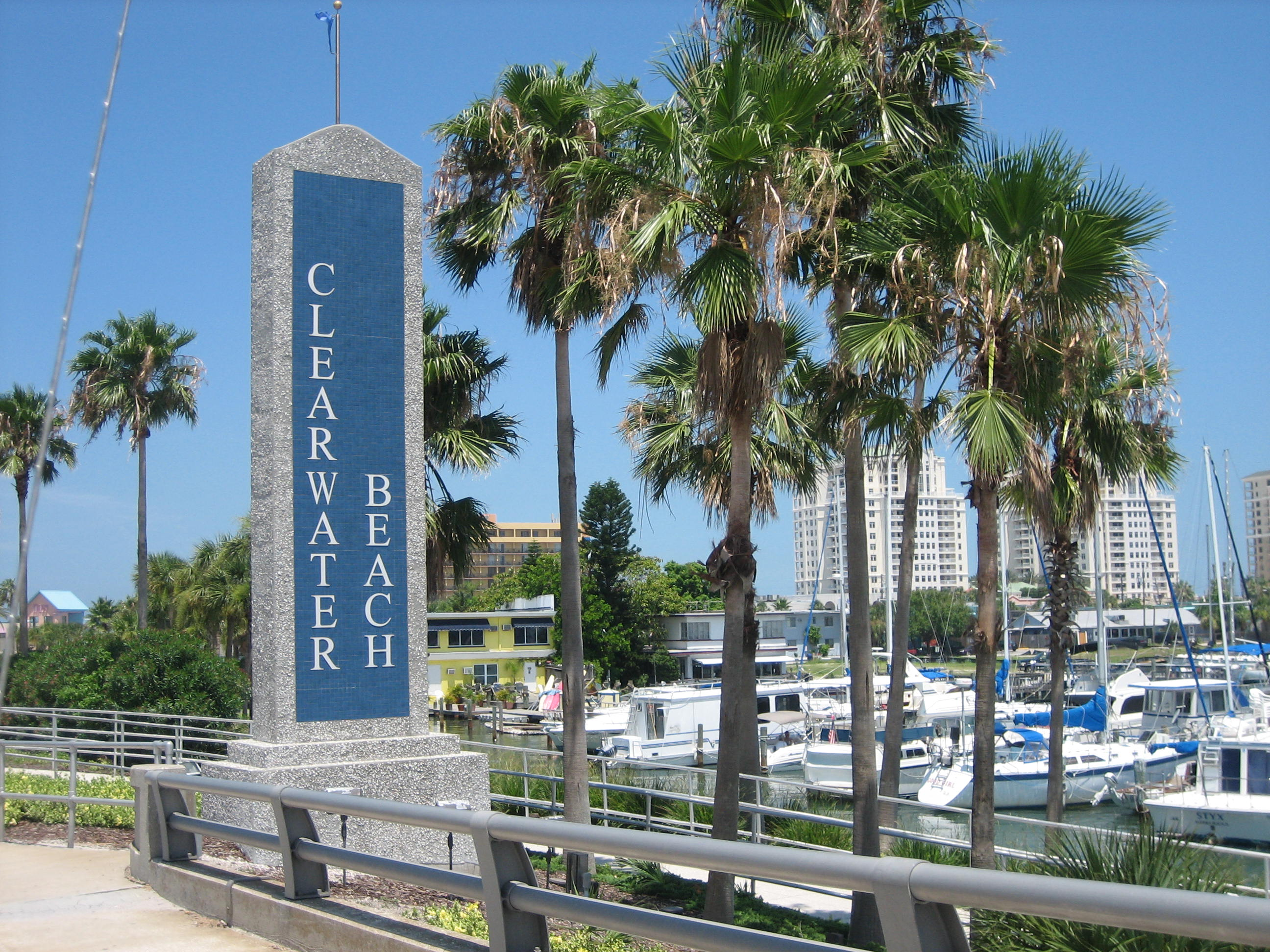 Entering Clearwater Beach