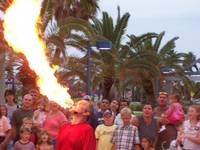 The fire breather at the show on pier 60 beach!!