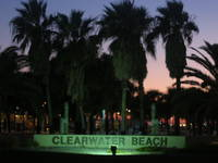 Sign at the foot of Clearwater Beach