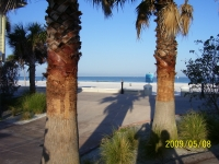 A view of the Gulf from the Beach Walk..Just about where Britt's Cafe used to be.