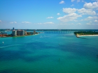 View from parasailing looking over County Rd 699/Gulf Blvd. in Clearwater.